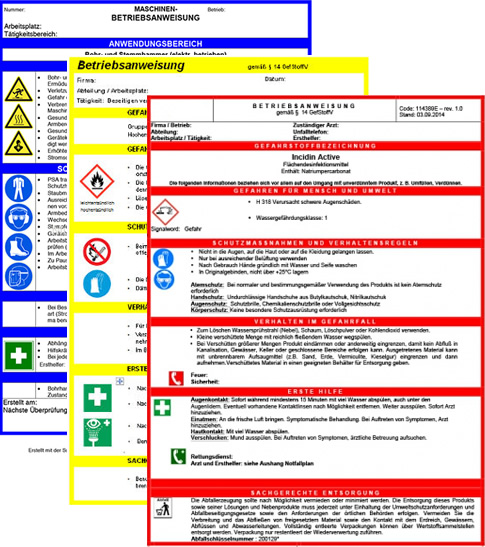 muster fr betriebsanweisungen - Muster Betriebsanweisung